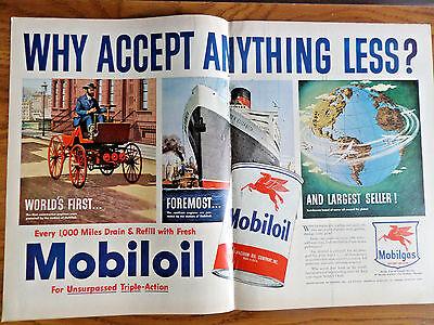 1950 Mobil Mobiloil Ad 1950 Lane Cedar Chest Ad 1950 Imperial Hiram Whiskey Ad