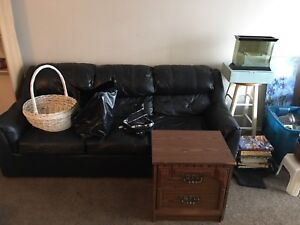 Free couch and old tv stand - pickup Monday afternoon only