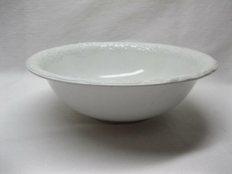 Alfred Meakin Royal White Ironstone Large Washbowl Commode Old Antique Vtg