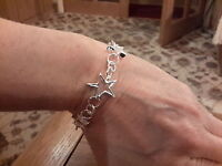 Brand Silver Plated Graduating Hollow Stars Bracelet With Gift Box -  - ebay.co.uk