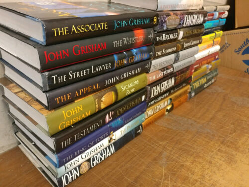Lot of 10 John Grisham Legal Thriller Mystery ALL Hardcover HB HCDJ Books MIX