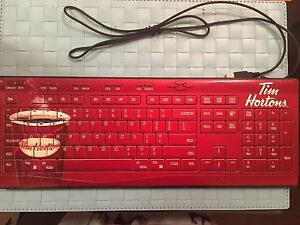 Brand New Tim Hortons Cute Limited Wired Keyboard