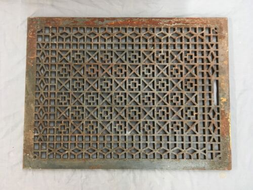 Large Antique Cast Iron Cold Air Return Vent Cover Vtg Old Grill 29x21 697-17E