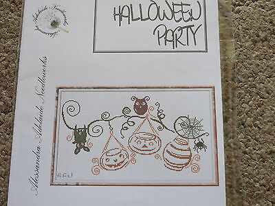 10% Off Alessandra Adelaide Needleworks Ctd X-stitch chart - Halloween Party - Halloween Adelaide