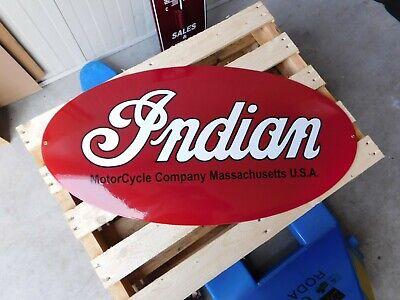 INDIAN Motorcycle - Garage Dealer ship - European Quality Porcelain Enamel Sign