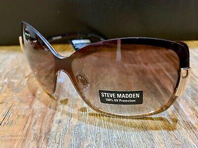 New! Steve Madden Shield Sunglasses S5133-Gold w/Tortoise Temples 100% (Madden Sunglasses)