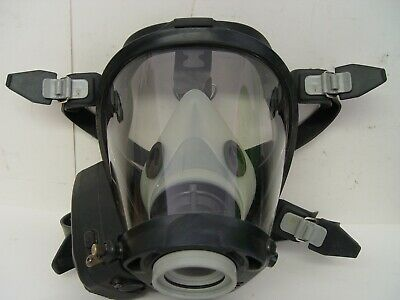Survivair Sperian Scba Gas Mask Fire Rescue Respirator Medium W Amplifier Amp