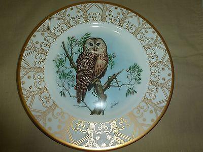"Boehm Owl Plate, Northern Barred Owl, Boehm Studios, 10-3/4"""