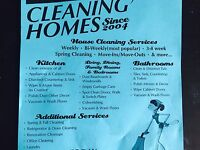 Experienced residential cleaner looking for a few new clients