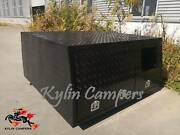 Dual Cab Black Checker Plate Alloy Canopy with 1 Dog Boxes Campbellfield Hume Area Preview