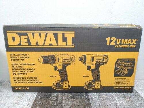 Dewalt Drill Driver And Impact Driver Combo Kit 12 V Li-Ion