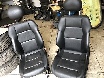 Mercedes C Class Black Leather Seats/saloon/rer/front/drivers/