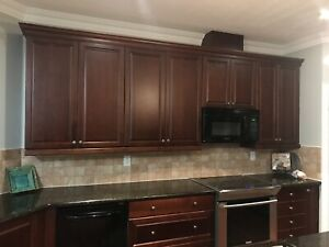 SOLID WOOD KITCHEN with GRANITE COUNTERTOPS