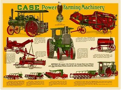 Case Power Farming Machinery New Metal Sign: Steam Tractor, 20-40 -