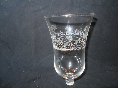 Etched Horses Sleigh Votive Cups candle Holders Vintage Home Interiors lot of 4