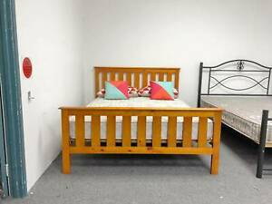 DELIVERY TODAY HIGH QUALITY STRONG Queen bed frame WOODEN
