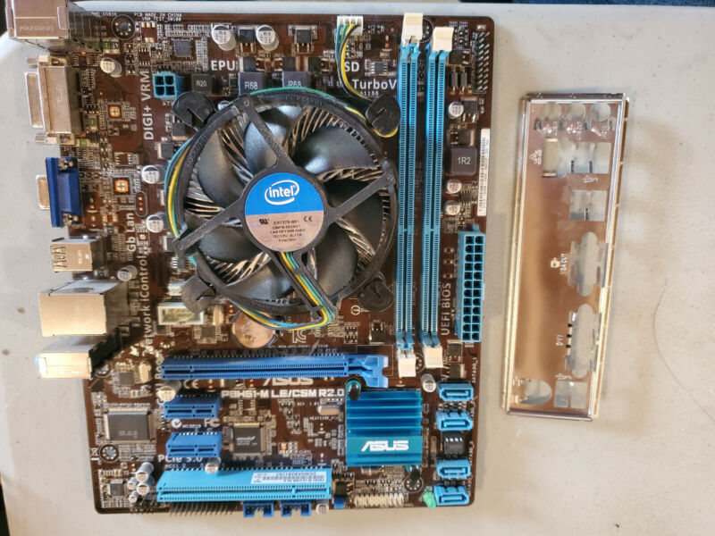 ASUS P8H61-M LE/CSM R2.0 mATX Motherboard + Intel i5-3470 CPU + Backplate