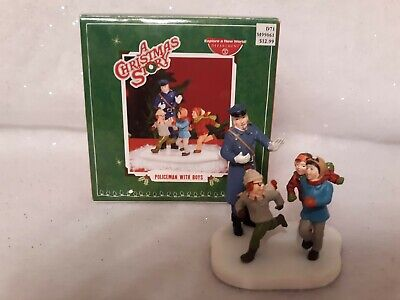 Policeman With Boys (Department 56 A Christmas Story