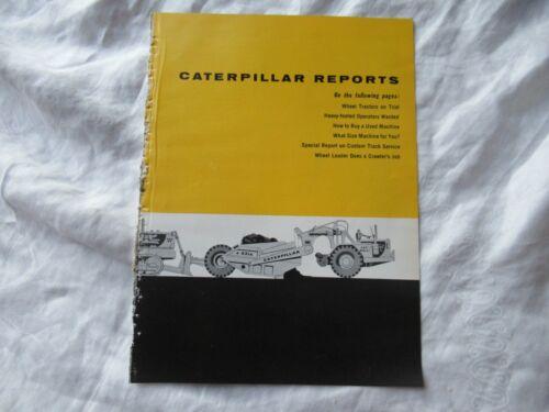 Caterpillar 630 631 scraper report brochure D9 D7 D6 tractor