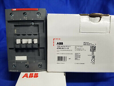 Abb Af80-30-11-13 3p 80a 100-250v Contactor New In Box