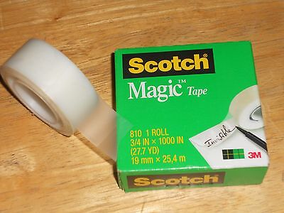 3 Rolls 3m Scotch Magic Tape 810 34 X 1000 Refill Roll Can Write On Matte