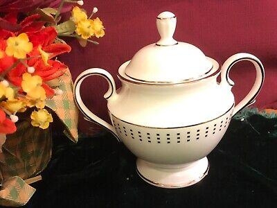 Lenox Herald Square Platinum Sugar Bowl & Lid NEW 1stQ USA Free Shipping  Square Sugar Bowl