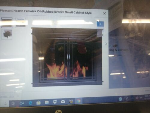 Pleasant Hearth FN-5700 Fenwick Fireplace Glass Door, Oil Ru