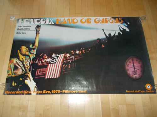 +++ 1970 JIMI HENDRIX Fillmore Band of Gypsys Capitol Subway Poster ORIGINAL