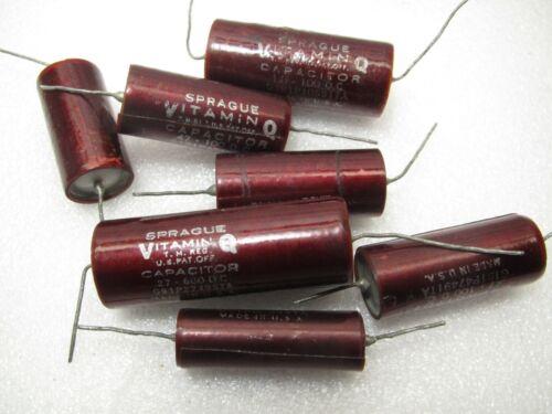 VITAMIN Q  1.0 uf 100V  191P RED  PAPER IN OIL CAPACITOR
