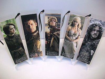 - GAME OF THRONES Bookmark 5 Piece Set Collectible Complements poster dvd book