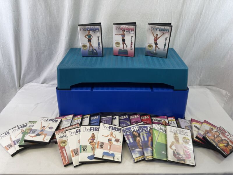 The Firm TransFirmer Aerobic Exercise Stepper Two Level Step And Dvds