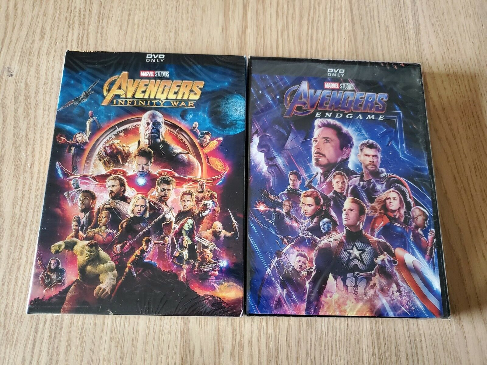 Avengers End Game and Avengers Infinity War 2-Movie DVD Bund