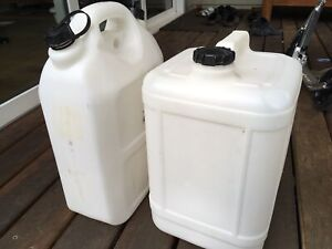 20 litre water containers x 2