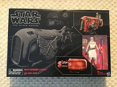 New Star Wars The Black Series Rey's Speeder (Jakku) and Figure Sealed