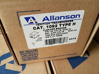 Allanson Cat. 1092 Type H Transformer Cleaver Brooks