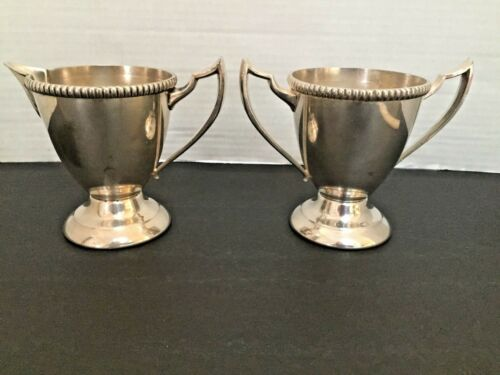 Vintage Silver Plated Sheets Rockford S Co. 1875  Sugar and Creamer Set
