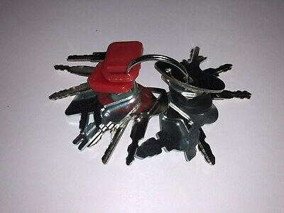 16 Keys - Heavy Construction Equipment Ignition Start Starter Key Set - New