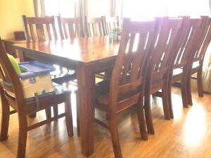 11 Piece Dining Set Australian Hardwood Can Deliver