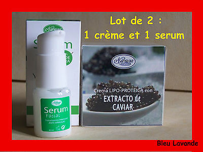 Serum facial Aloe Vera et creme anti-âge caviar illuminateur de teint