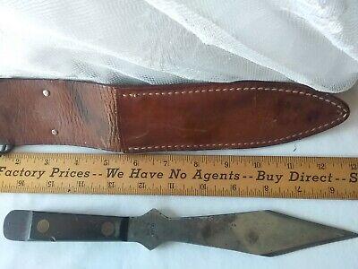 Vintage Olsen O.K. Throwing Knife w/ leather Sheath