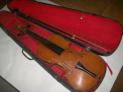antique violin G.A.Pfretzchner Markneukirchen Germany w/wood case &bow
