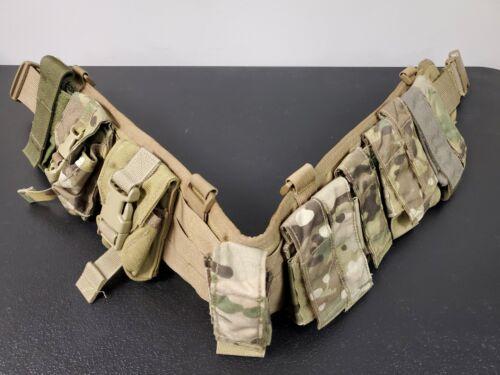 High Speed Gear Sure Grip Padded Tactical War Belt Medium w/ 11 Grenade Pouches