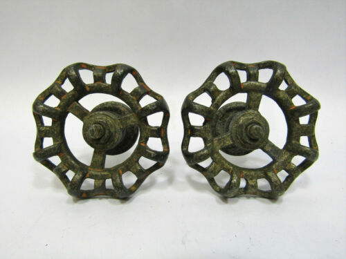 "Lot of 2 New Metal Rustic 2"" Greenish Bronze Faucet Handles Drawer Pull Knobs"