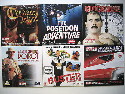 ASSORTMENT OF DVD'S  FROM VARIOUS  SUN/NOTW NEWSPAPER PROMOTIONS (6 DVD'S )  004