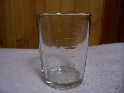 Arcade Crystal # 3 Original Catch Cup With Tablespoon Markings/Very Good Cond.