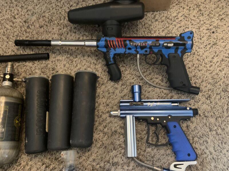 Paintball guns + Accessories