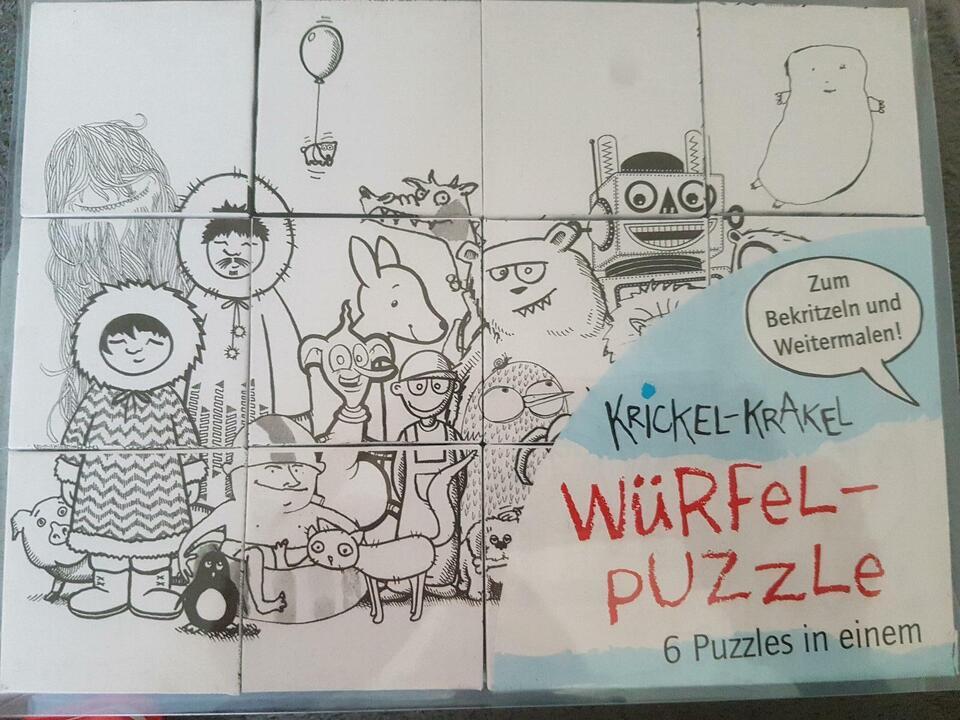Würfel Puzzle zum bemalen in Bayern - Bad Windsheim