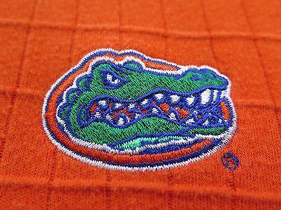 Nike Team Cotton Rayon Florida Gators Orange Textured Coaches Polo Shirt Medium