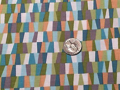 Fabric Herb Garden Geo Shapes Blender Cotton 1/4 Yard -