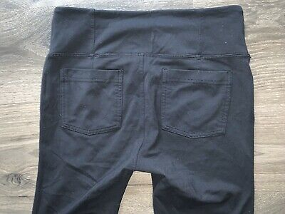 Athleta Metro High Waisted Skinny Ankle Pants Black  138443 Size M